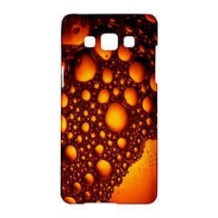 Bubbles Abstract Art Gold Golden Samsung Galaxy A5 Hardshell Case  by Simbadda