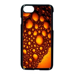 Bubbles Abstract Art Gold Golden Apple Iphone 7 Seamless Case (black) by Simbadda