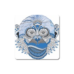 Pattern Monkey New Year S Eve Square Magnet by Simbadda