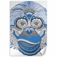 Pattern Monkey New Year S Eve Canvas 24  X 36  by Simbadda