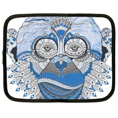 Pattern Monkey New Year S Eve Netbook Case (xxl)  by Simbadda
