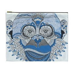 Pattern Monkey New Year S Eve Cosmetic Bag (xl)