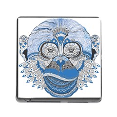 Pattern Monkey New Year S Eve Memory Card Reader (square)