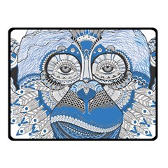 Pattern Monkey New Year S Eve Fleece Blanket (small) by Simbadda