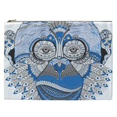 Pattern Monkey New Year S Eve Cosmetic Bag (xxl)