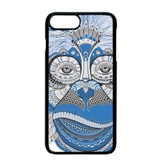Pattern Monkey New Year S Eve Apple Iphone 7 Plus Seamless Case (black) by Simbadda