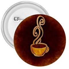 Coffee Drink Abstract 3  Buttons by Simbadda