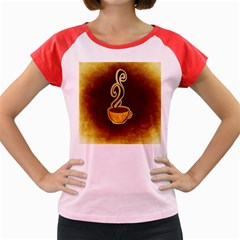 Coffee Drink Abstract Women s Cap Sleeve T Shirt