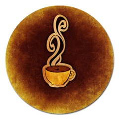 Coffee Drink Abstract Magnet 5  (round) by Simbadda