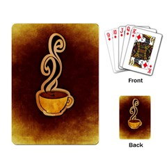 Coffee Drink Abstract Playing Card by Simbadda