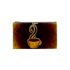 Coffee Drink Abstract Cosmetic Bag (small)  by Simbadda