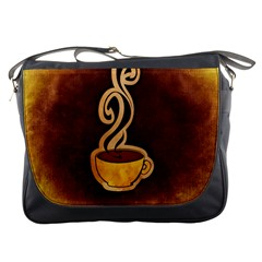 Coffee Drink Abstract Messenger Bags by Simbadda