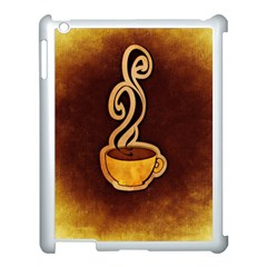 Coffee Drink Abstract Apple Ipad 3/4 Case (white) by Simbadda