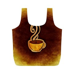 Coffee Drink Abstract Full Print Recycle Bags (m)  by Simbadda