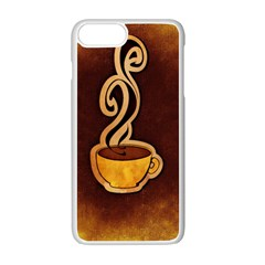 Coffee Drink Abstract Apple Iphone 7 Plus White Seamless Case