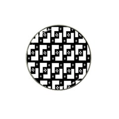 Abstract Pattern Background  Wallpaper In Black And White Shapes, Lines And Swirls Hat Clip Ball Marker (10 Pack) by Simbadda