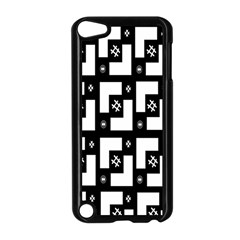 Abstract Pattern Background  Wallpaper In Black And White Shapes, Lines And Swirls Apple Ipod Touch 5 Case (black) by Simbadda