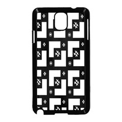 Abstract Pattern Background  Wallpaper In Black And White Shapes, Lines And Swirls Samsung Galaxy Note 3 Neo Hardshell Case (black) by Simbadda