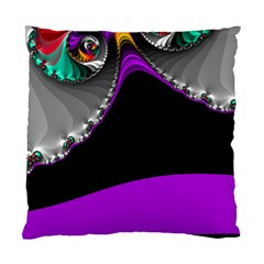 Fractal Background For Scrapbooking Or Other Standard Cushion Case (one Side) by Simbadda
