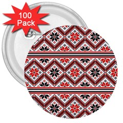 Folklore 3  Buttons (100 Pack)  by Valentinaart