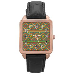 Folklore Rose Gold Leather Watch