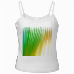 Folded Digitally Painted Abstract Paint Background Texture White Spaghetti Tank