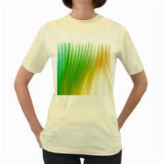 Folded Digitally Painted Abstract Paint Background Texture Women s Yellow T Shirt