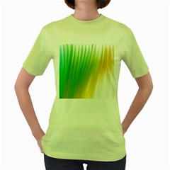 Folded Digitally Painted Abstract Paint Background Texture Women s Green T Shirt by Simbadda