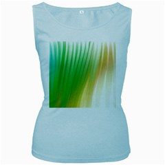 Folded Digitally Painted Abstract Paint Background Texture Women s Baby Blue Tank Top