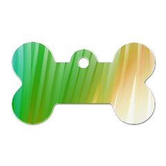 Folded Digitally Painted Abstract Paint Background Texture Dog Tag Bone (two Sides) by Simbadda