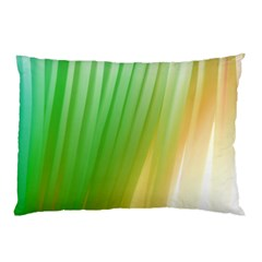 Folded Digitally Painted Abstract Paint Background Texture Pillow Case by Simbadda