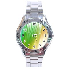 Folded Digitally Painted Abstract Paint Background Texture Stainless Steel Analogue Watch by Simbadda
