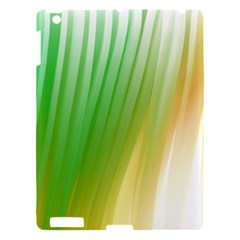 Folded Digitally Painted Abstract Paint Background Texture Apple Ipad 3/4 Hardshell Case by Simbadda