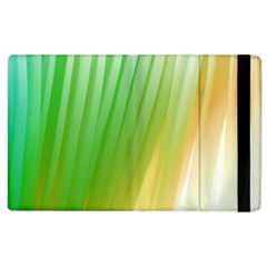 Folded Digitally Painted Abstract Paint Background Texture Apple Ipad 2 Flip Case by Simbadda