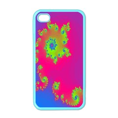 Digital Fractal Spiral Apple Iphone 4 Case (color) by Simbadda