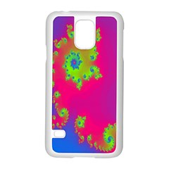 Digital Fractal Spiral Samsung Galaxy S5 Case (white)