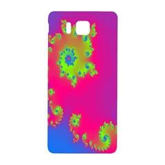 Digital Fractal Spiral Samsung Galaxy Alpha Hardshell Back Case by Simbadda