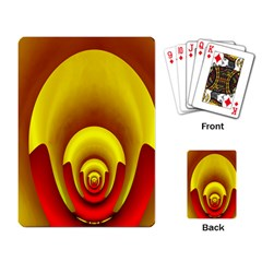 Red Gold Fractal Hypocycloid Playing Card by Simbadda