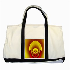 Red Gold Fractal Hypocycloid Two Tone Tote Bag by Simbadda