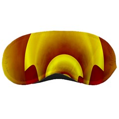 Red Gold Fractal Hypocycloid Sleeping Masks