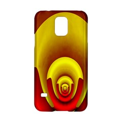 Red Gold Fractal Hypocycloid Samsung Galaxy S5 Hardshell Case  by Simbadda