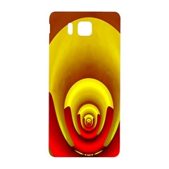 Red Gold Fractal Hypocycloid Samsung Galaxy Alpha Hardshell Back Case by Simbadda
