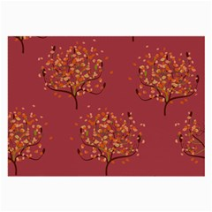 Beautiful Tree Background Pattern Large Glasses Cloth by Simbadda
