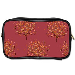 Beautiful Tree Background Pattern Toiletries Bags 2 Side by Simbadda