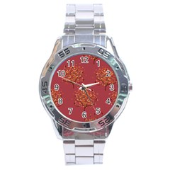 Beautiful Tree Background Pattern Stainless Steel Analogue Watch by Simbadda