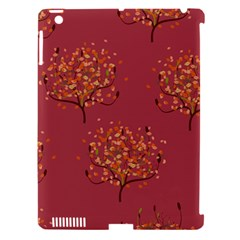 Beautiful Tree Background Pattern Apple Ipad 3/4 Hardshell Case (compatible With Smart Cover) by Simbadda