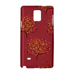 Beautiful Tree Background Pattern Samsung Galaxy Note 4 Hardshell Case by Simbadda