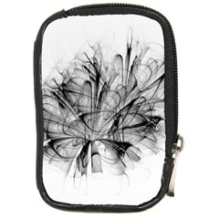 High Detailed Resembling A Flower Fractalblack Flower Compact Camera Cases by Simbadda