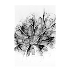High Detailed Resembling A Flower Fractalblack Flower Shower Curtain 48  X 72  (small)  by Simbadda