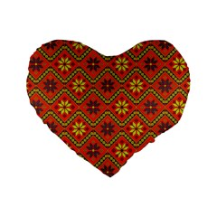 Folklore Standard 16  Premium Heart Shape Cushions by Valentinaart